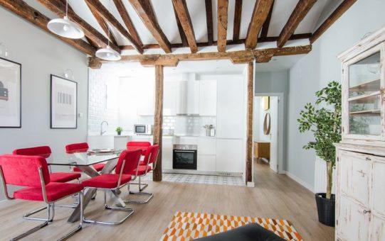 Espacio de día de una vivienda en el centro de Madrid