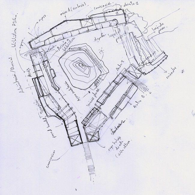 Boceto. Desarrollo de Proyecto de Arquitectura. Rez estudio
