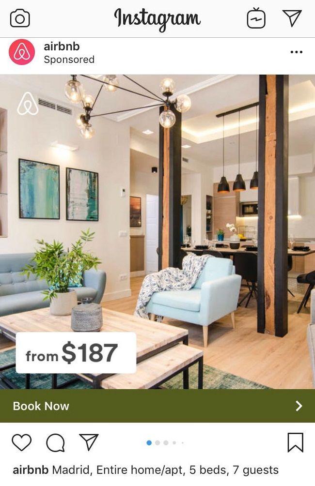 Airbnb recurre a los diseños de Rez estudio en sus promociones.