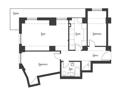 Reforma integral - vivienda de María - Rez estudio Infografía 3